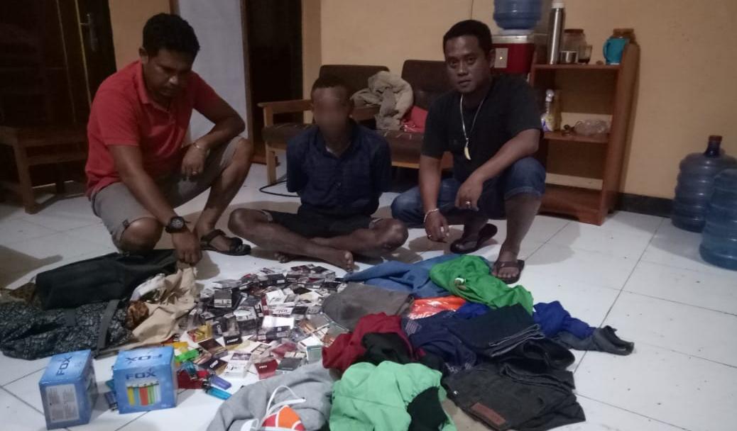 Polsek Nimbokrang Berhasil Bekuk Pelaku Pencurian Barang Kios